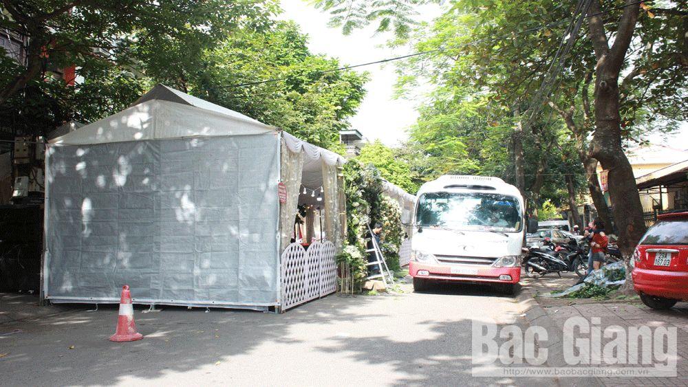 đám cưới, an toàn giao thông, dựng rạp lấn chiếm vỉa hè, lòng đường, Bắc Giang