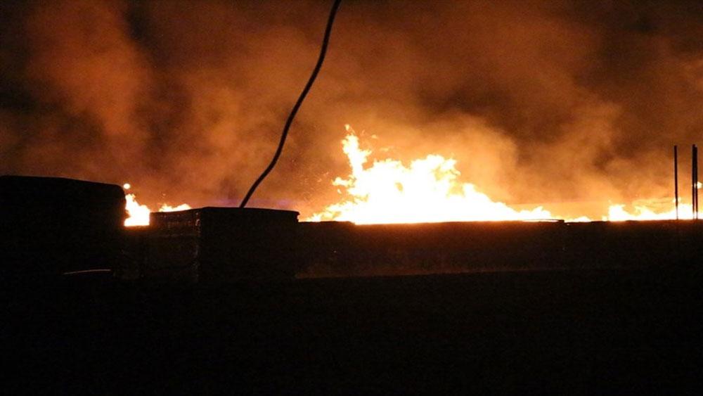 Cháy lớn tại nhà xưởng sản xuất pallet gỗ