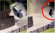 Chồng say rượu lái xe gây tai nạn, vợ bay khỏi ôtô