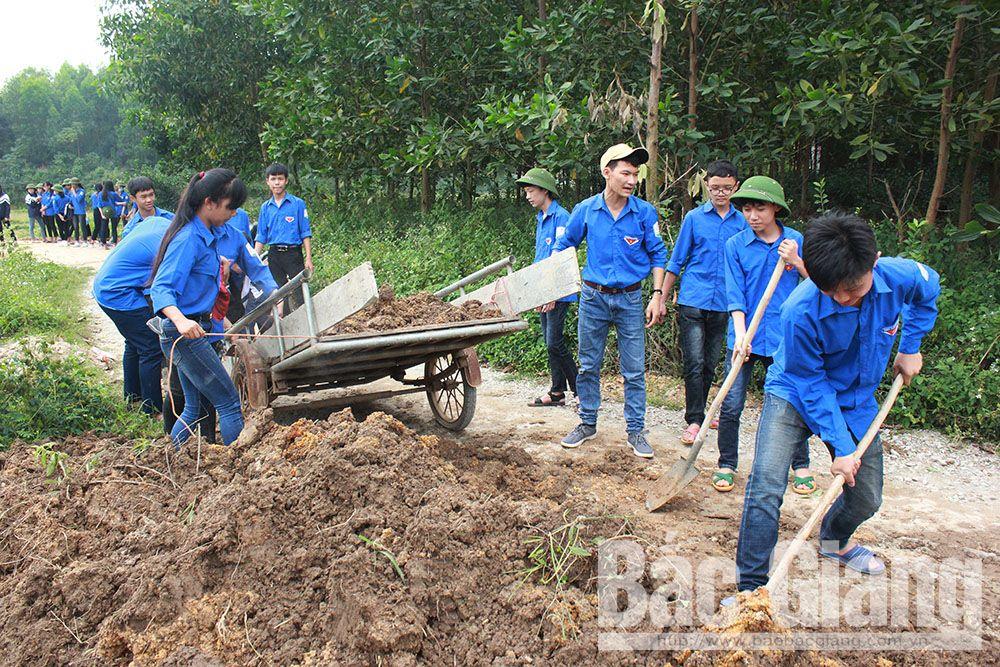 Bắc Giang, tình nguyện mùa đông, học sinh, khó khăn, thanh niên, đoàn viên, Yên Thế, Xuân Lương