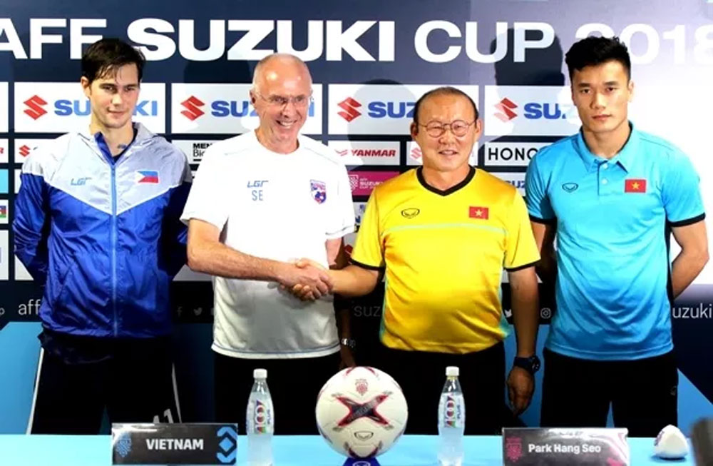 Vietnam coach, Park Hang-seo, semi-final clash, the Philippines, tough challenge, semi-final first leg, pre-match press, positive result, previous matches, good physique,