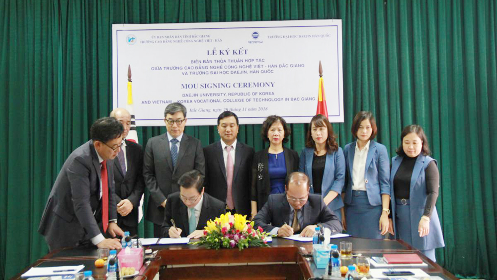 Bac Giang' VK-Tech inks MOU with RoK's Daejin University