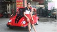 Học sinh lớp 11 chế ô tô điện chạy khắp làng