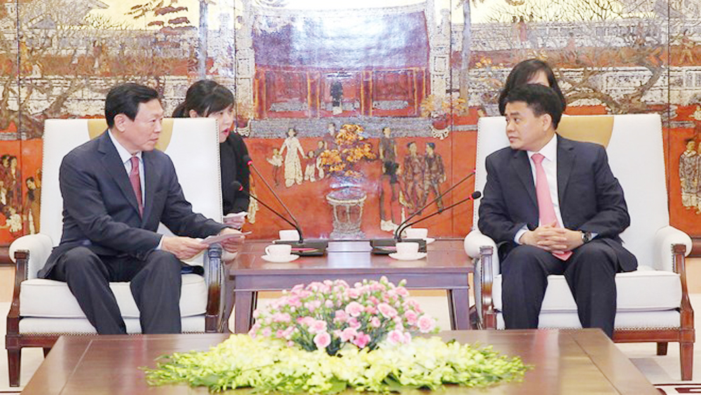 RoK, Lotte Group, expand investment, Hanoi, working session, Republic of Korea, business results, human resources training, huge potential, Vietnamese agricultural products