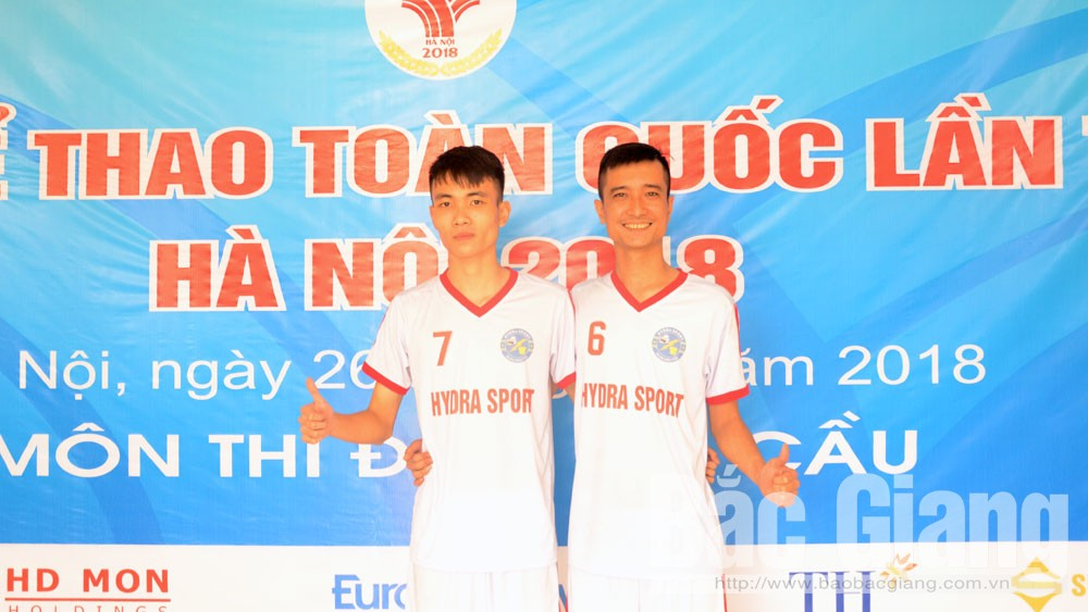 Cặp VĐV Bắc Giang Anh Tuấn – Mạnh Tú xuất sắc giành HCV đôi nam môn đá cầu tại Đại hội Thể thao toàn quốc