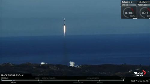 Tên lửa tái sử dụng của SpaceX phóng 64 vệ tinh cùng lúc