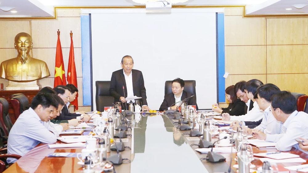 Thẩm tra việc thực hiện Nghị quyết T.Ư 4, Chỉ thị 05 tại Ban cán sự Đảng Bộ Tài nguyên và Môi trường