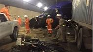 Tai nạn trong hầm đường bộ Hải Vân, ách tắc giao thông Bắc- Nam