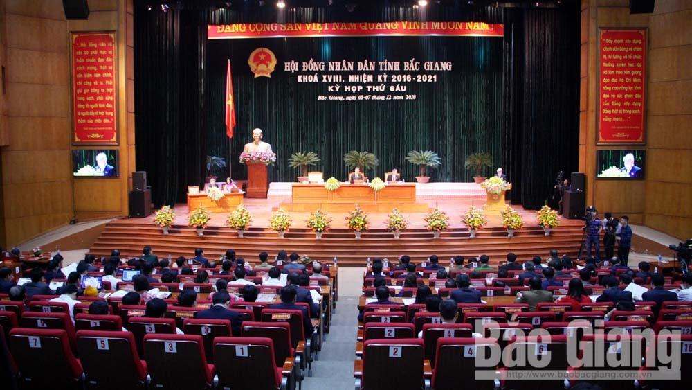Khai mạc kỳ họp thứ 6, HĐND tỉnh Bắc Giang khóa XVIII