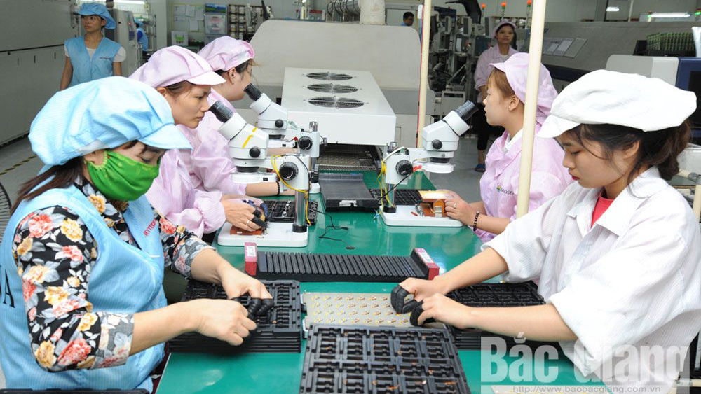 50 million USD plant, Bac Giang province, Quang Chau Industrial Park, construction project, electronic component fabrication plant, total investment, Korean enterprise
