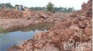 Nhà thầu chưa khắc phục tình trạng xâm lấn đất lúa, kênh mương khi thi công cao tốc Bắc Giang - Lạng Sơn