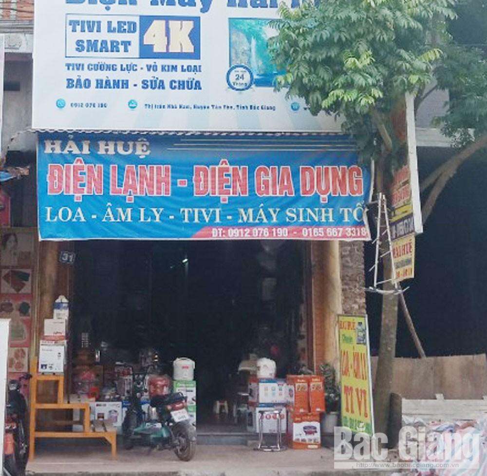 Bắc Giang, phố Tân Hòa, thị trấn Nhã Nam, huyện Tân Yên, lối đi, công dân