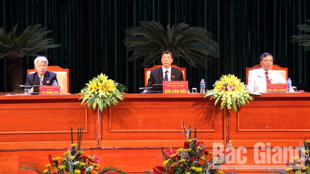 HĐND, kỳ họp thứ 6, Bắc Giang, bỏ phiếu tín nhiệm, Bí thư Tỉnh ủy Bùi Văn hải