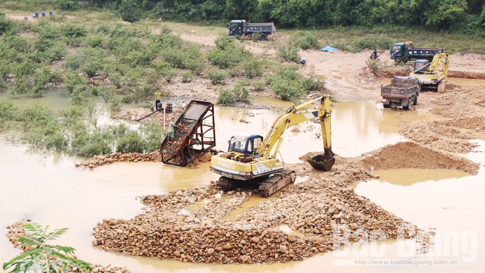 Bắc Giang, Lục Ngạn, khai thác cát, sỏi trái phép, quản lý , cát tặc