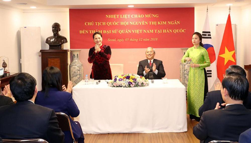 NA Chairwoman, Vietnamese community, RoK, National Assembly Chairwoman, Nguyen Thi Kim Ngan, RoK, socio-economic development, Vietnam-RoK relationship