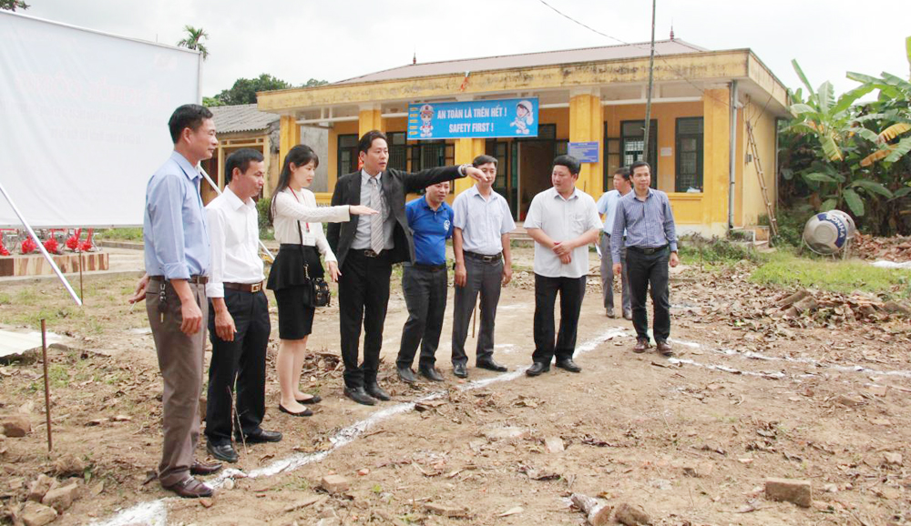 Yen The district, Bac Giang province, Yokoi Mould Vietnam, Japanese investor, commencement ceremony, 8 classrooms