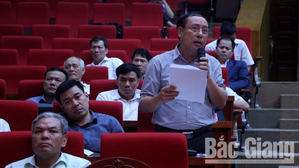 HĐND tỉnh Bắc Giang, kỳ họp thứ 6, Bắc Giang, Bùi Văn Hải, Bùi Văn Hạnh, chất vấn, môi trường, đầu tư, xây dựng