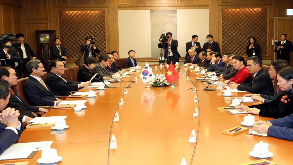 Chủ tịch Quốc hội Hàn Quốc Moon Hee Sang, hội đàm, Chủ tịch Quốc hội Nguyễn Thị Kim Ngân