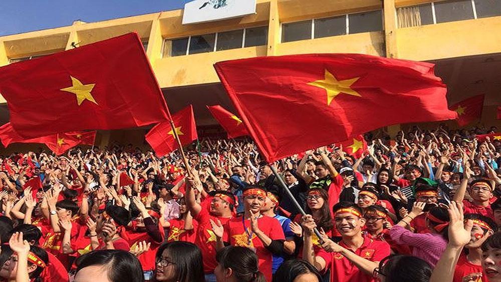 Khí thế tưng bừng khắp nơi cổ vũ đội tuyển Việt Nam