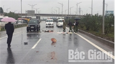 Băng qua cao tốc Hà Nội- Bắc Giang, một phụ nữ tử vong