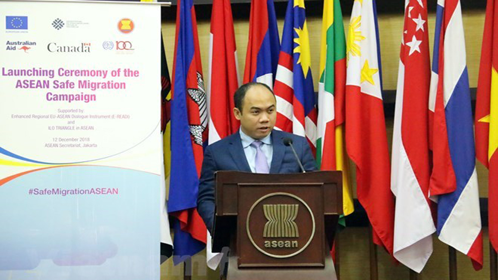 ASEAN, pays attention, interests of migrant workers, Safe Migration Campaign, regional countries, international community, social sponsorship, humanitarian treatment