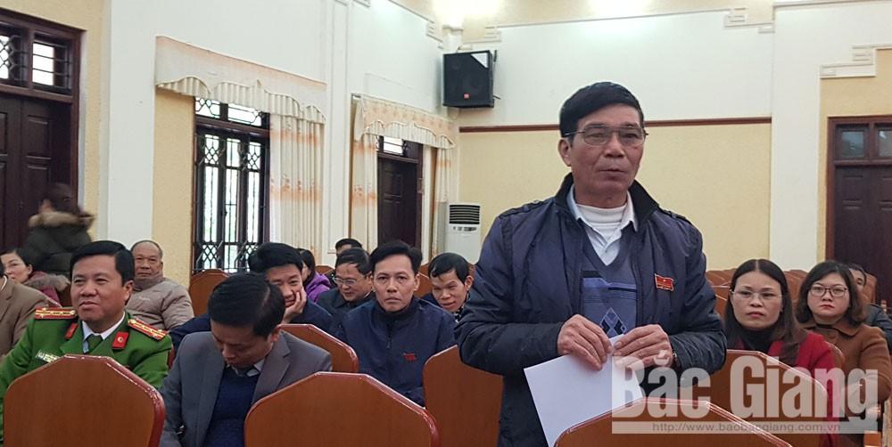 Kỳ họp thứ 7, HĐND TP Bắc Giang khóa XXI nhiệm kỳ 2016- 2021, chất vấn, Bắc Giang