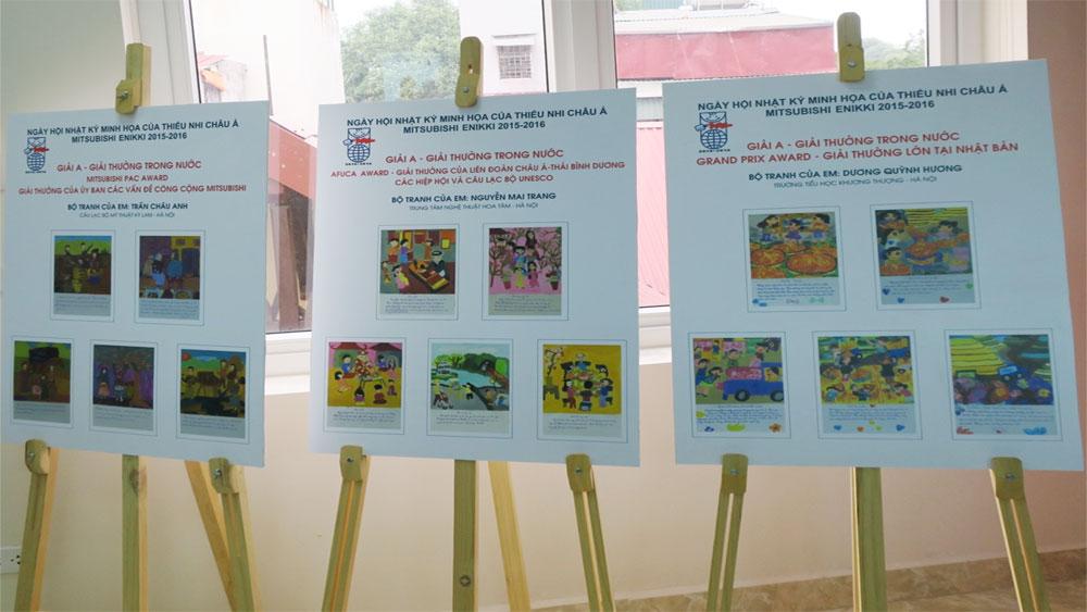 Học sinh lớp 7 của Hà Nội giành giải thưởng lớn Cuộc thi nhật ký minh họa thiếu nhi châu Á