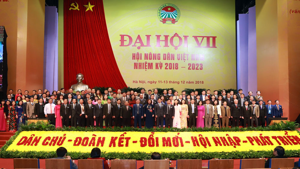 Vietnam Farmers' Union, new Central Committee, 7th National Congress, 7th tenure, 119 members