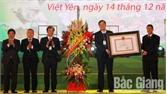 Tổ chức trọng thể lễ đón nhận và công bố Quyết định của Thủ tướng Chính phủ công nhận huyện Việt Yên đạt chuẩn nông thôn mới