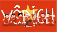 Việt Nam vô địch AFF Cup 2018, người hâm mộ vẽ tranh vui nhộn chúc mừng