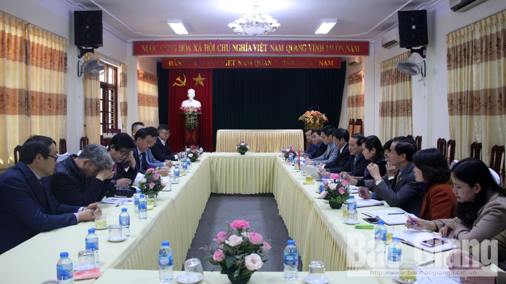 Bac Giang province, Trade Union, RoK's Incheon city, Secretary-General Lee Joon-seon, working session, Labour Federation, socio-economic situation, labor relations