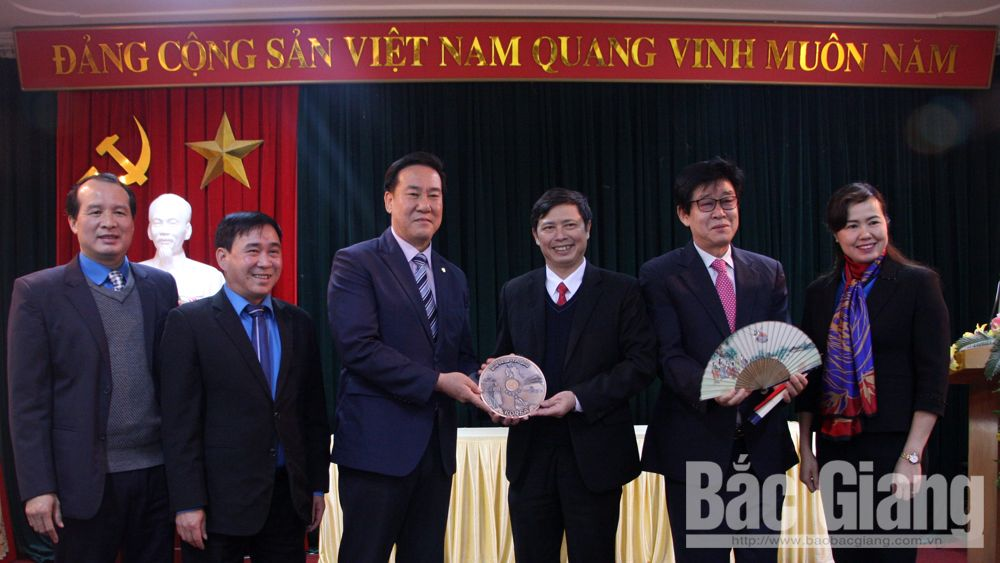 Delegation from the Trade Union of RoK's Incheon city visits Bac Giang
