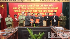 UBND tỉnh Bắc Giang và Bộ Công Thương ký kết quy chế phối hợp trong chỉ đạo Cục Quản lý thị trường tỉnh