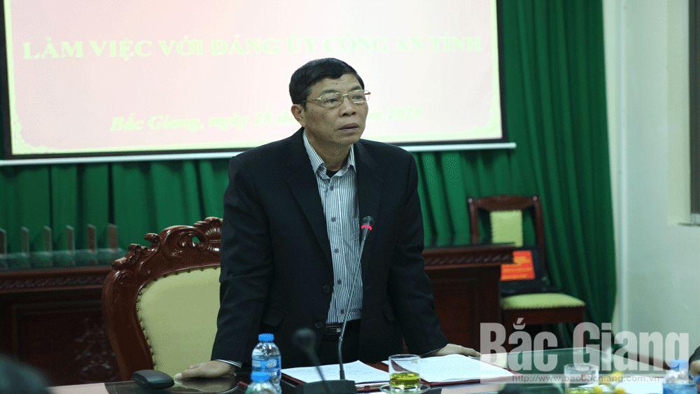 Bí thư Tỉnh ủy Bùi Văn Hải chỉ đạo ngành công an quan tâm giáo dục cán bộ, chiến sĩ; chủ động phòng ngừa tội phạm