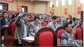 Kỳ họp thứ 8, HĐND huyện Lạng Giang thông qua 12 Nghị quyết