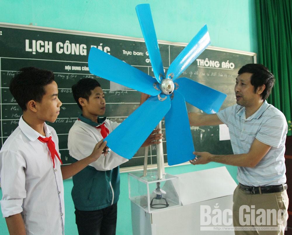 THCS Đồng Sơn, TP Bắc Giang, ý tưởng sáng tạo, khoa học kỹ thuật, mô hình