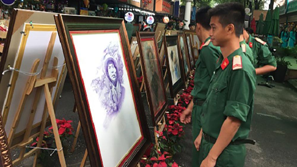 Triển lãm ảnh, sách kỷ niệm 74 năm Ngày thành lập Quân đội Nhân dân Việt Nam