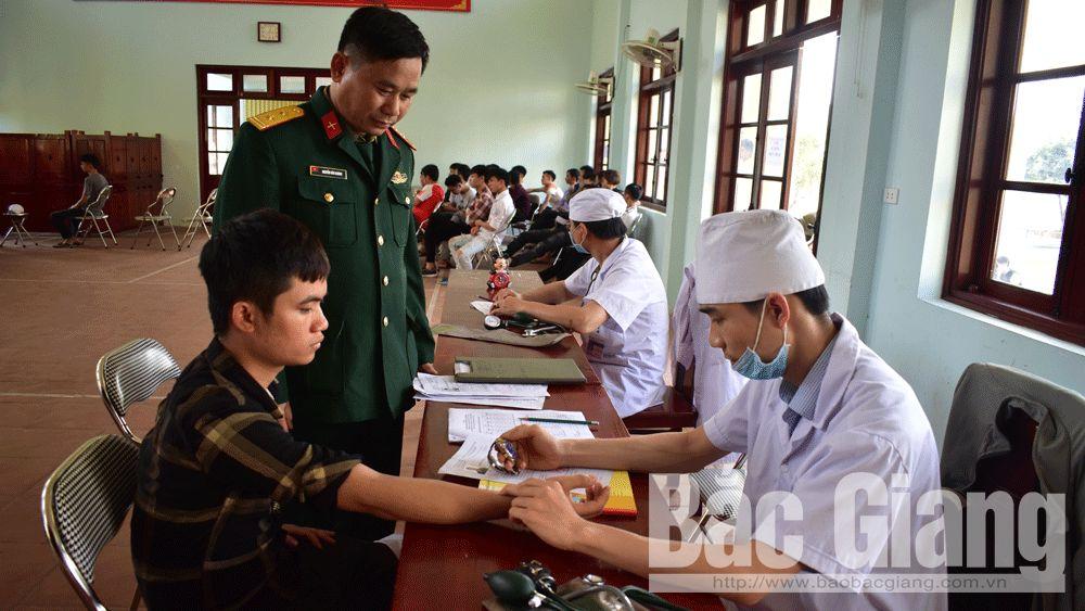 Khám tuyển nghĩa vụ; nhập ngũ; Tân Yên