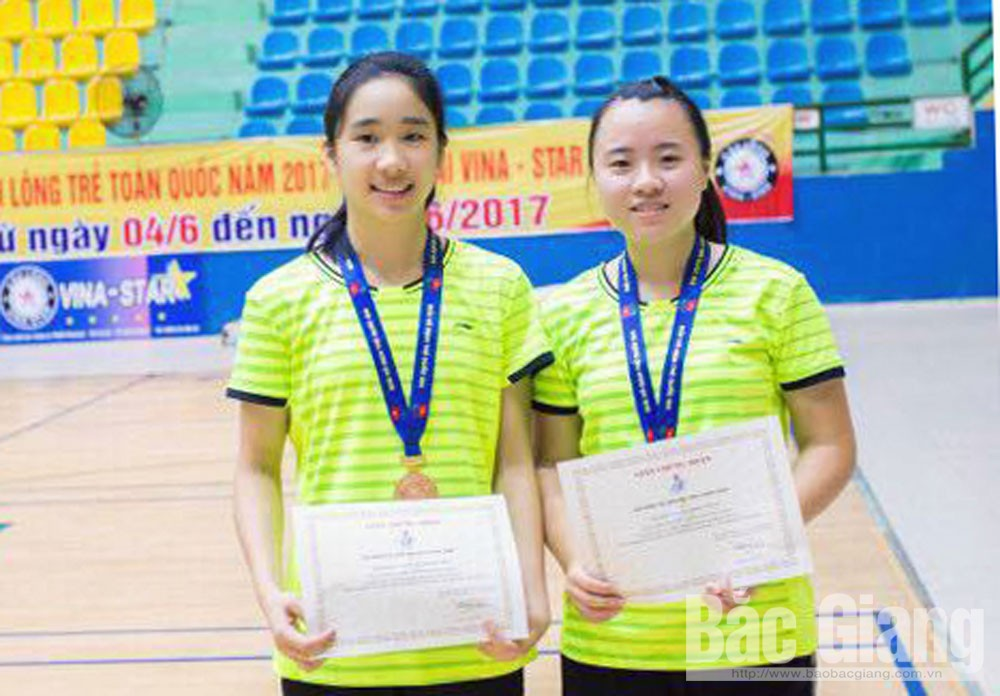 Bac Giang's badminton, young generation, Bac Giang province, badminton team, National Sports Festival, future talented generation,  high achievements, domestic youth tournaments,