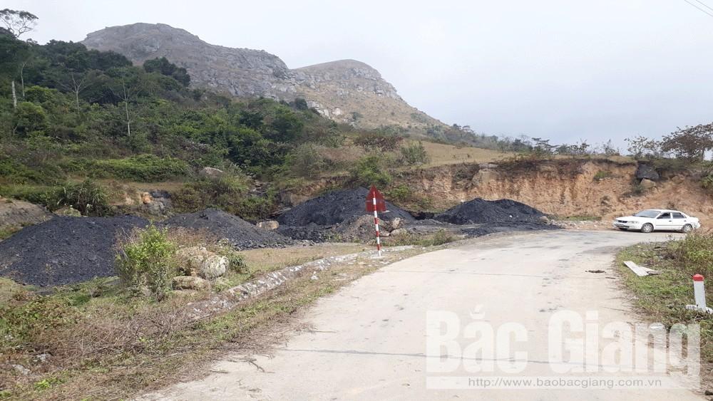 Khai thác khoáng sản trái phép,  Khu du lịch Đồng Cao, huyện Sơn Động, tỉnh Bắc Giang