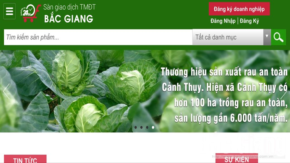 2,000 booths transacted on Bac Giang e-commerce website