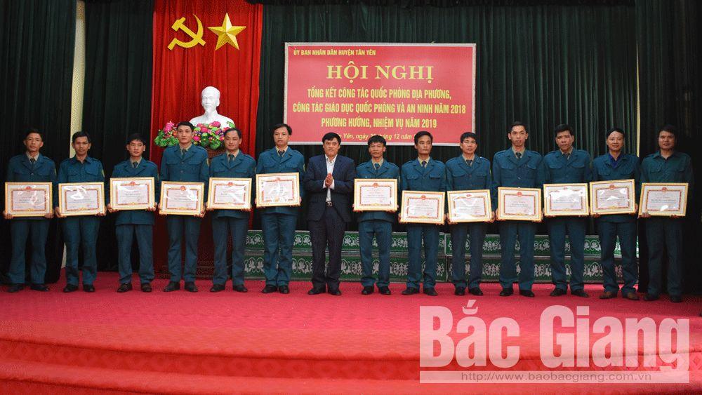 Quốc phòng địa phương; Huyện Tân Yên, Tỉnh Bắc Giang