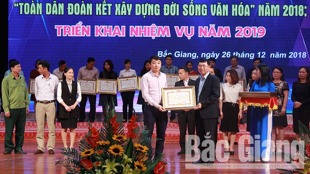 213 thôn, bản, doanh nghiệp, đơn vị, gia đình văn hóa tiêu biểu được khen thưởng
