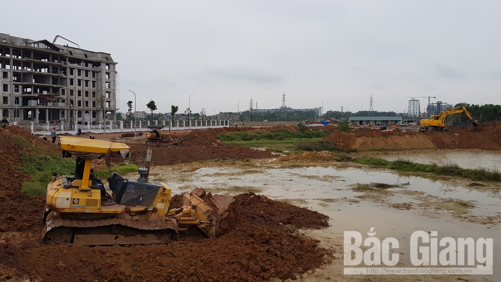 TP Bắc Giang cưỡng chế thu hồi gần 3,3 nghìn m2 đất nông nghiệp tại xã Tân Tiến