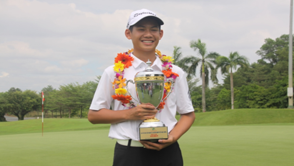 13-year-old boy, World Amateur Golf Ranking, Dang Quang Anh, Ha Noi Moi newspaper, youngest winner,  Vietnam MatchPlay Championship