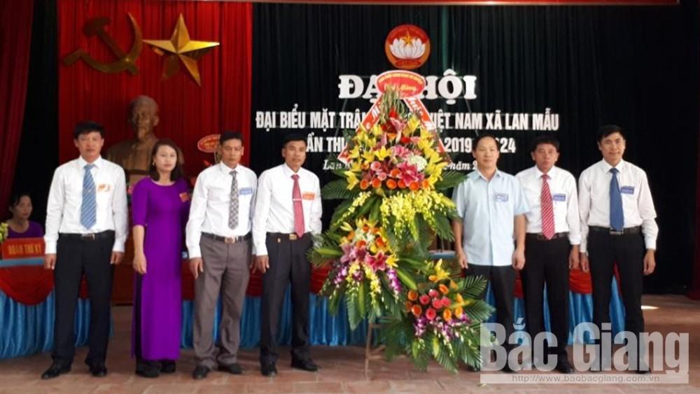 Lục Nam tổ chức đại hội MTTQ điểm tại xã Lan Mẫu