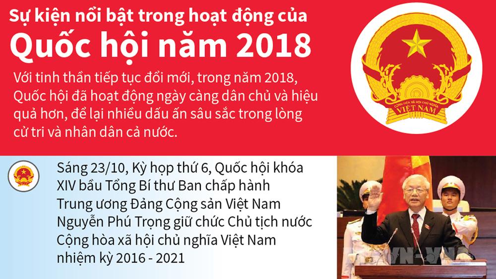 Sự kiện nổi bật trong hoạt động của Quốc hội năm 2018