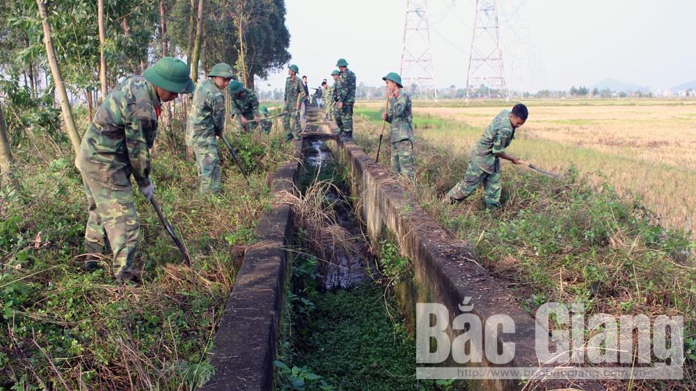 Sư đoàn 3, Quân khu 1 dã ngoại làm công tác dân vận, Hành quân dã ngoại, huyện Yên Dũng