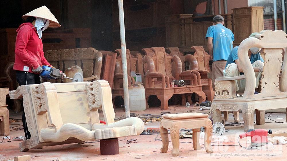Làng mộc, xưởng mộc, Bãi Ổi, hút khách dịp cuối năm, Tết Nguyên đán