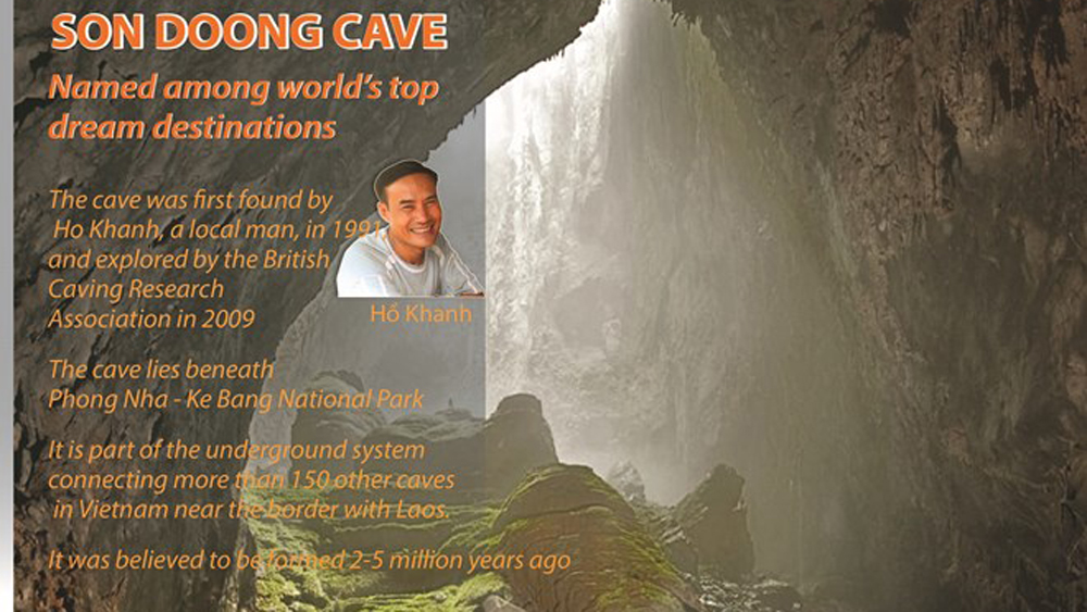 Son Doong Cave named among world's top dream destinations